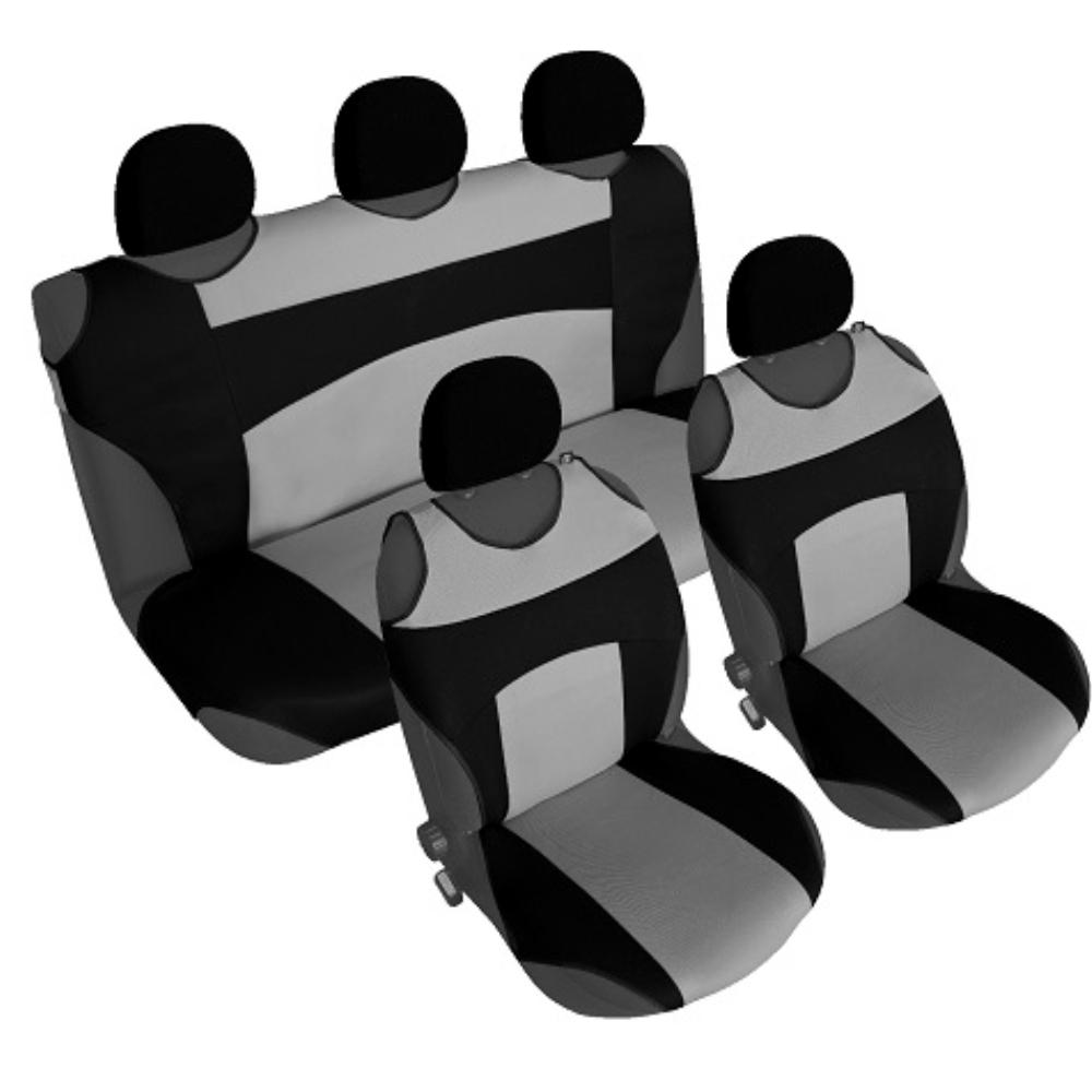 CSC304S - Sitzbezug Set T-Shirt-Design Schwarz-Grau