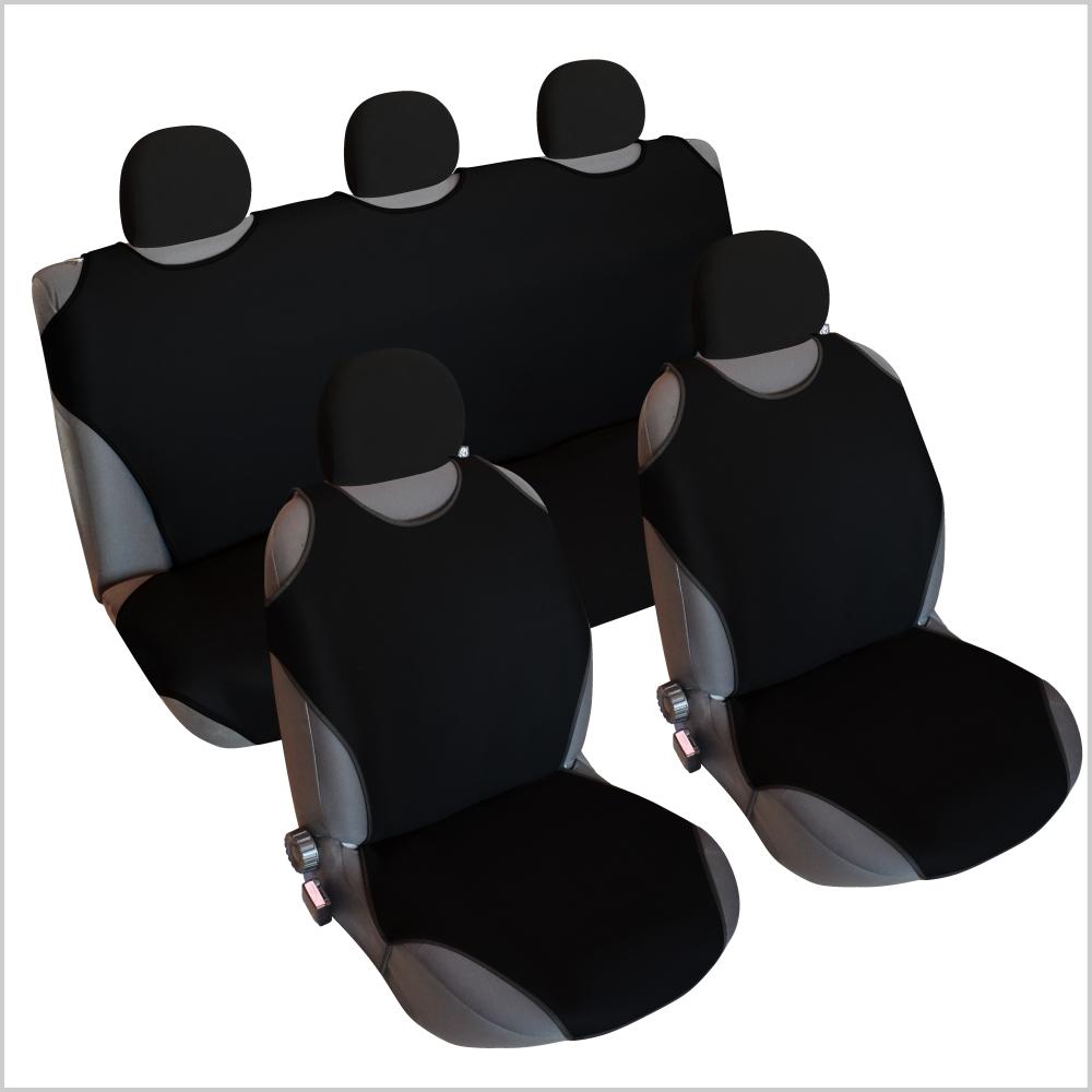CSC406S - Sitzbezug Set T-Shirt-Design Schwarz