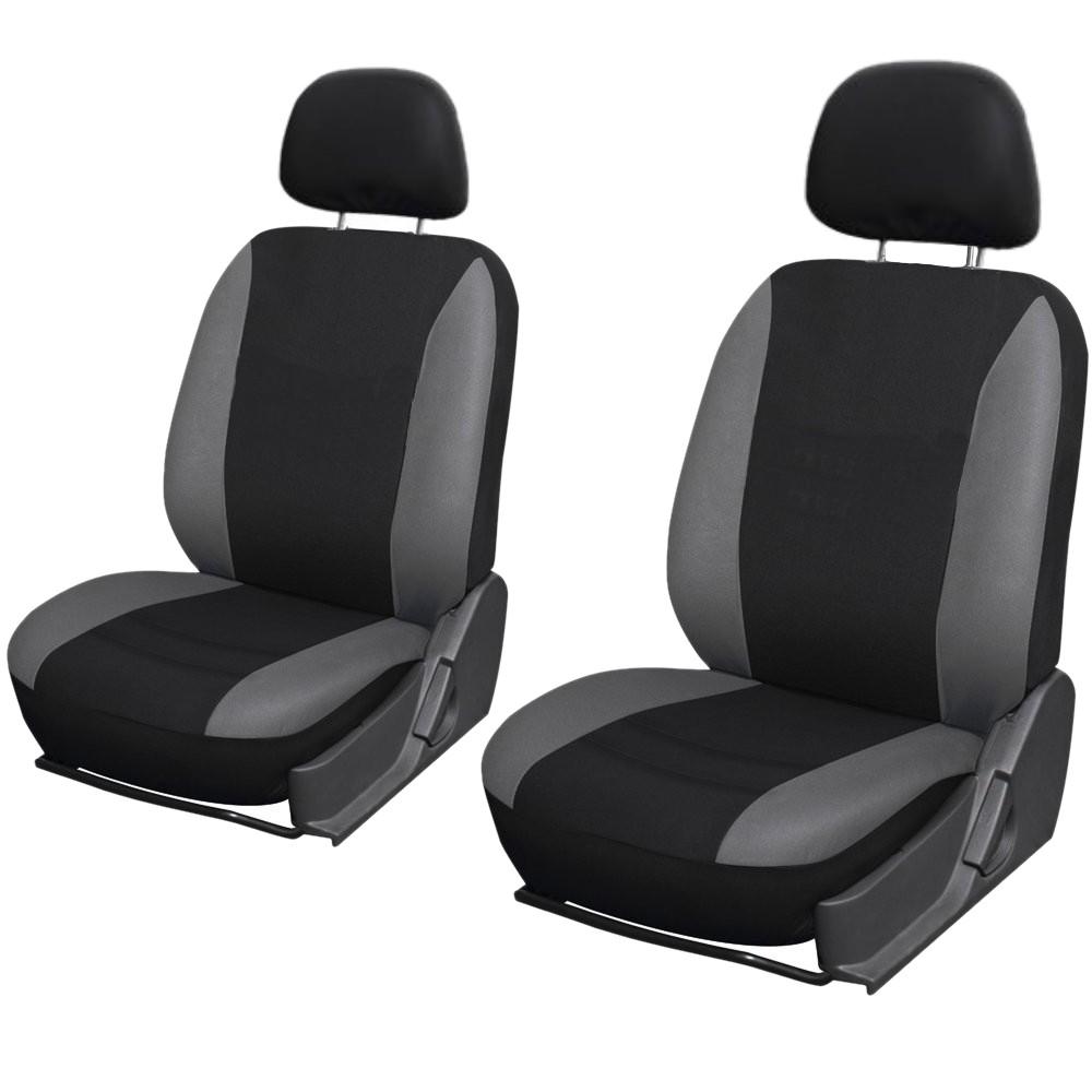 SB101 - Sitzbezug Set mit Seitenairbag Schwarz / Grau