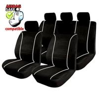 SB301 - Sitzbezug Set mit Seitenairbag Schwarz / Grau