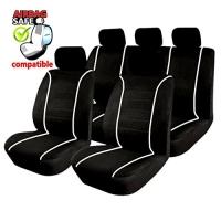 SB304 - Sitzbezug Set mit Seitenairbag Schwarz / Weiss