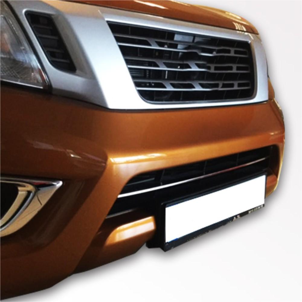 KS1299 - Chrom Grillleiste unten Stoßstange Geeignet für Nissan Navara ab 2016-