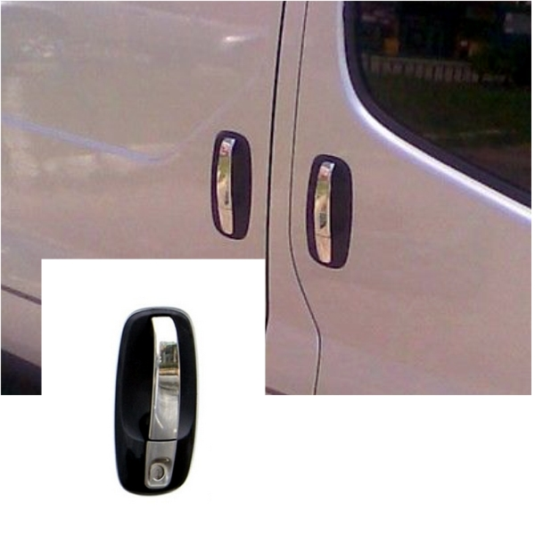 KS1073 - Chrom Türgriffe Abdeckung Geeignet für Opel Vivaro 2 01-14