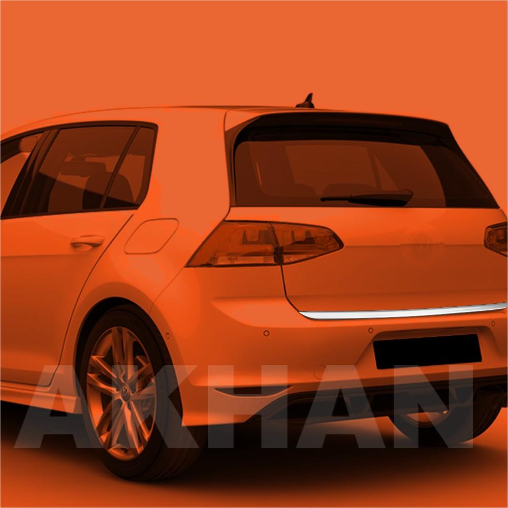 1A109 - Edelstahl Kofferraum Heckleiste geeignet für VW GOLF 7 HB