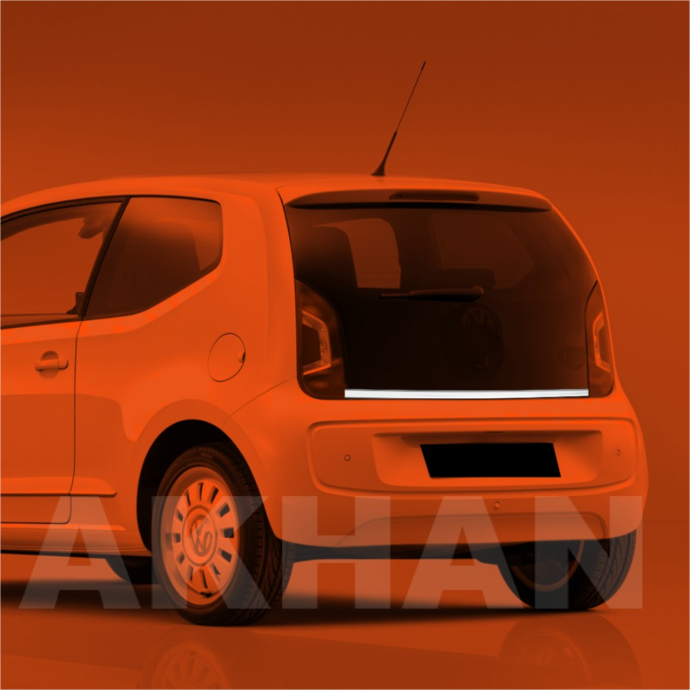 1A115 - Edelstahl Kofferraum Heckleiste geeignet für VW UP ab 2011->