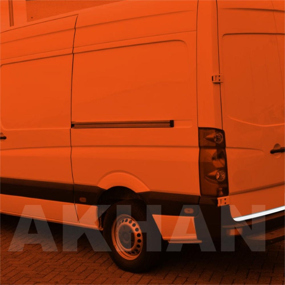 1A124 - Edelstahl Kofferraum Heckleiste geeignet für VW CRAFTER ab 2013->