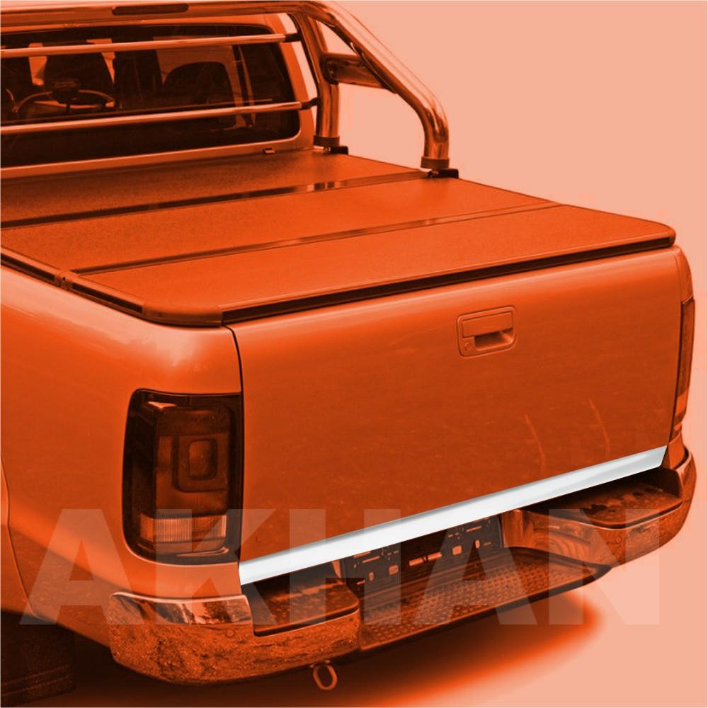 1A125 - Edelstahl Kofferraum Heckleiste geeignet für VW AMAROK