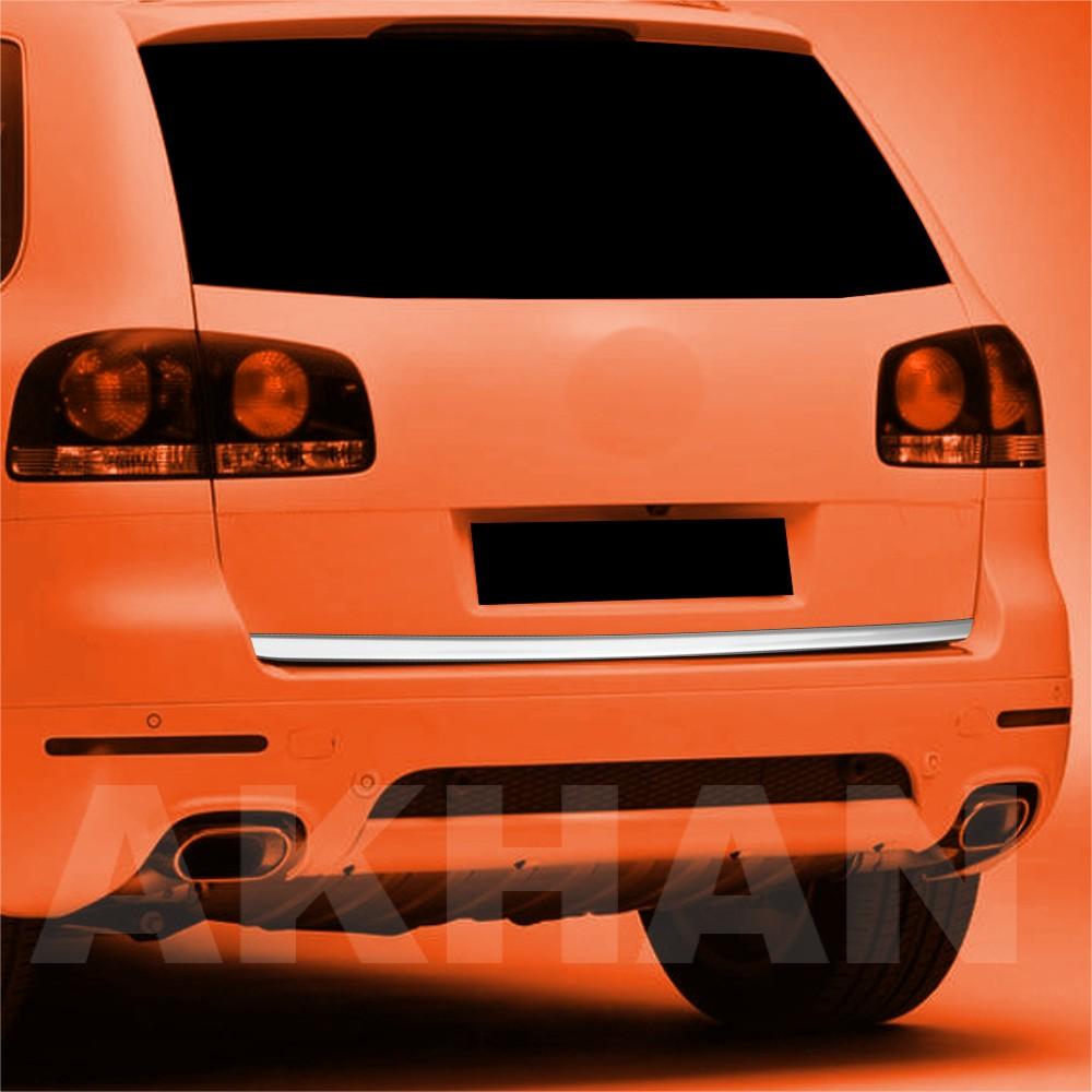 1A130 - Edelstahl Kofferraum Heckleiste geeignet für VW TOUAREG 2002 bis 2010