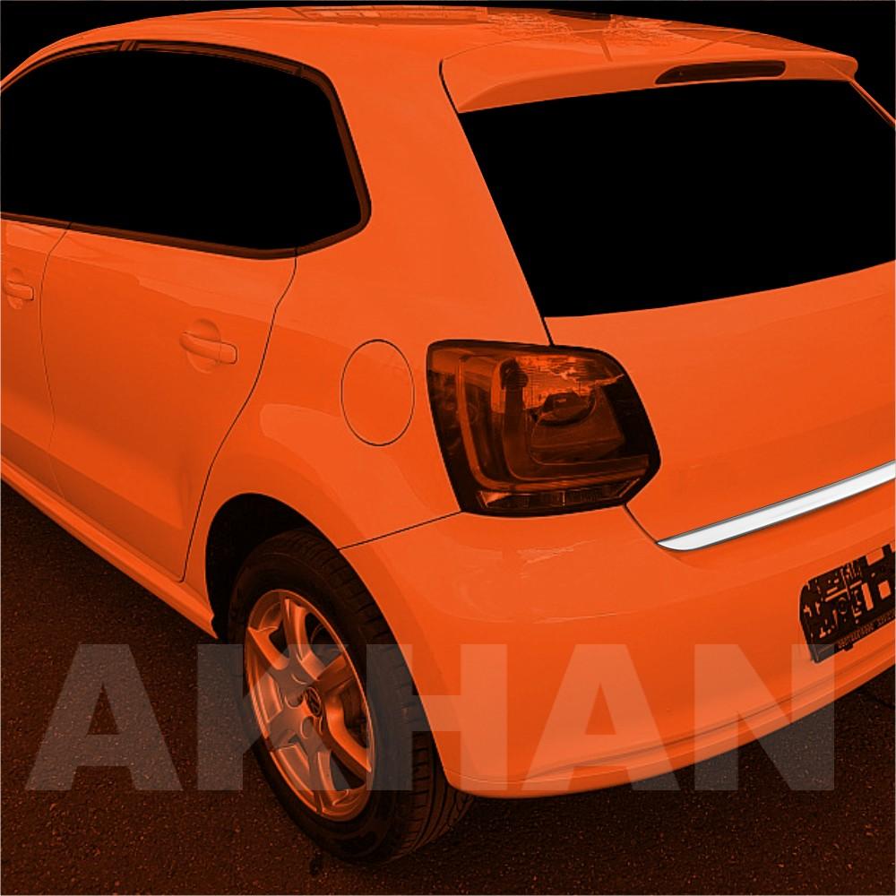 1A131 - Edelstahl Kofferraum Heckleiste geeignet für VW POLO V Limousine ab 2009