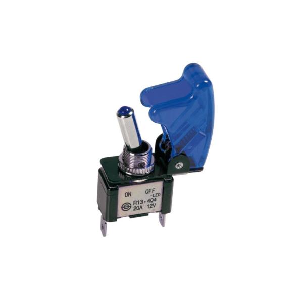 45562 - Schalter, Kippschalter, Blau beleuchtet, 12V, 20A