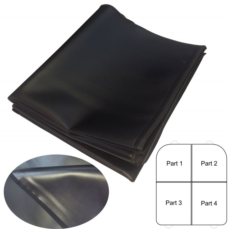 ATCKM1 - Multifunction blanket cover pads protector BLACK Leather