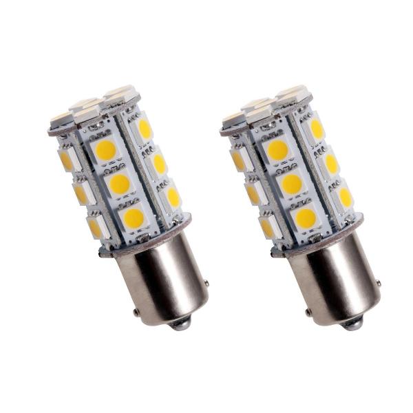 BA15S24Y- LED Birne Lampe Gelb BA15S 12V (gegenüber liegende Pins)