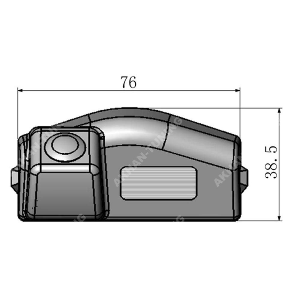 Cam13 Rückfahrkamera Einparkhilfe Geeignet Für Mazda 6 Gh Ab 2007