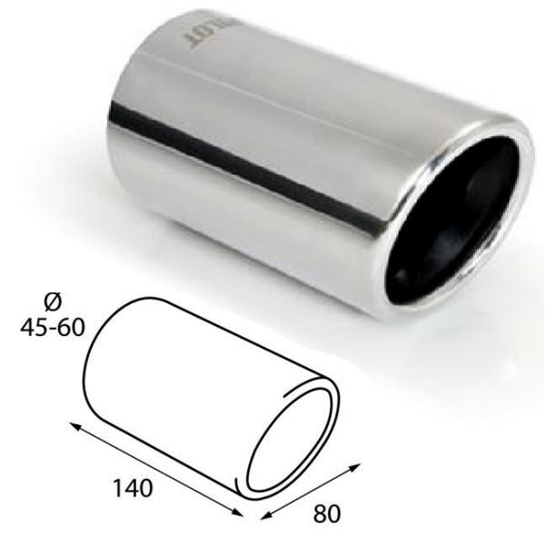 ER60025 - Edelstahl Auspuffblende Endrohr zum anschrauben