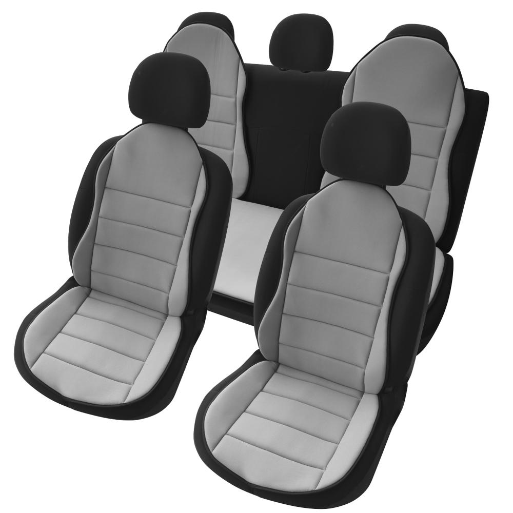 OMS1G - Auto Sitzauflage Sitzpolster 3er Set Grau New Design