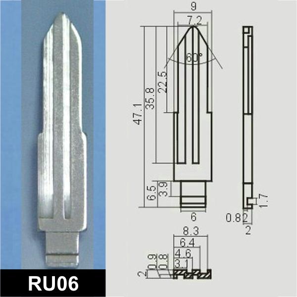 RU06 - Schlüsselrohling, Schlüsselbart