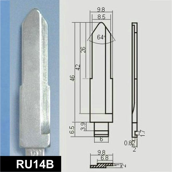 RU14B - Schlüsselrohling, Schlüsselbart