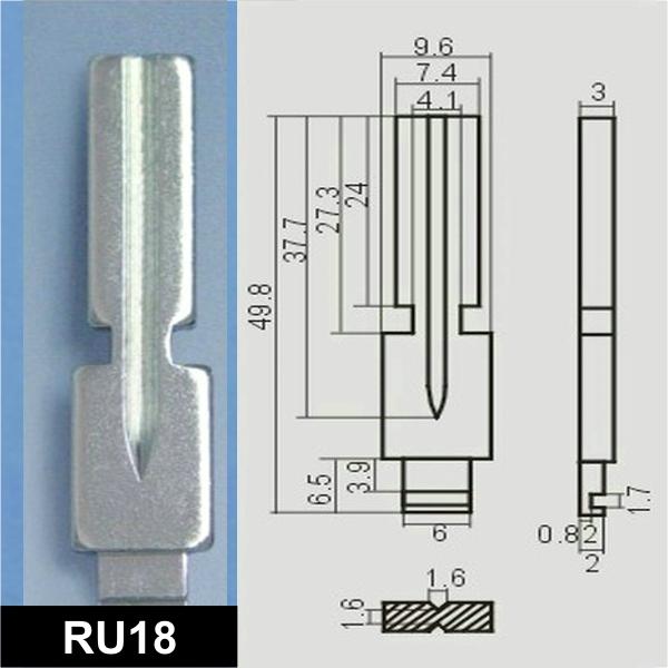 RU18 - Schlüsselrohling, Schlüsselbart