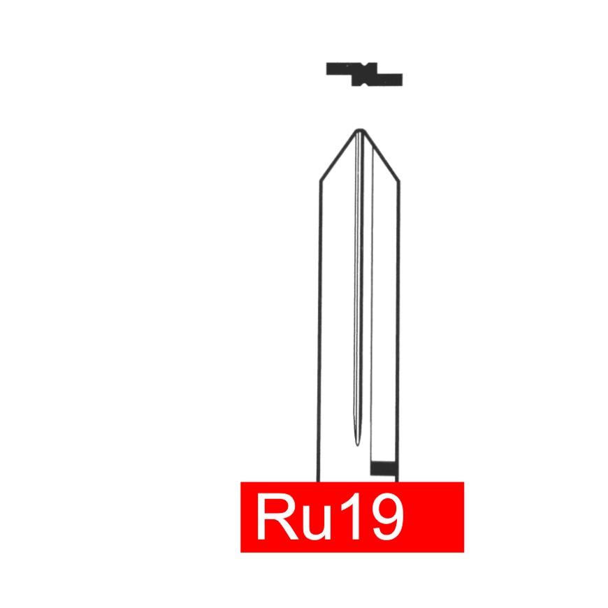 RU19 - Schlüsselrohling, Schlüsselbart