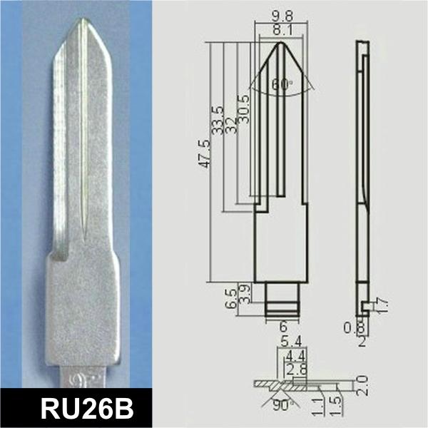 RU26B - Schlüsselrohling, Schlüsselbart