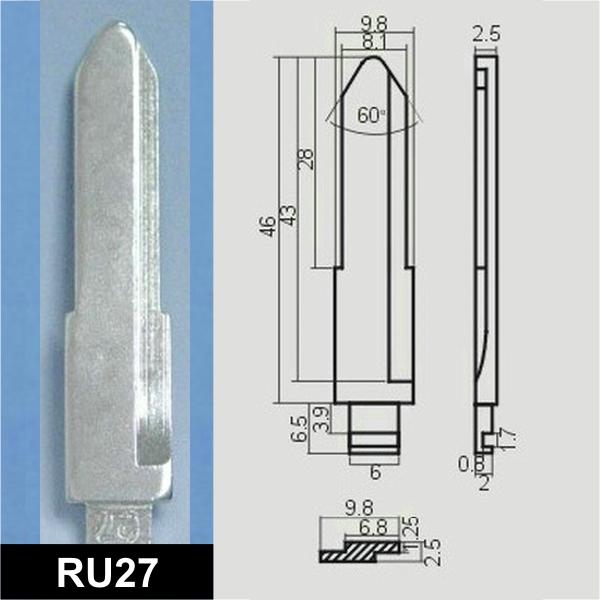 RU27 - Schlüsselrohling, Schlüsselbart