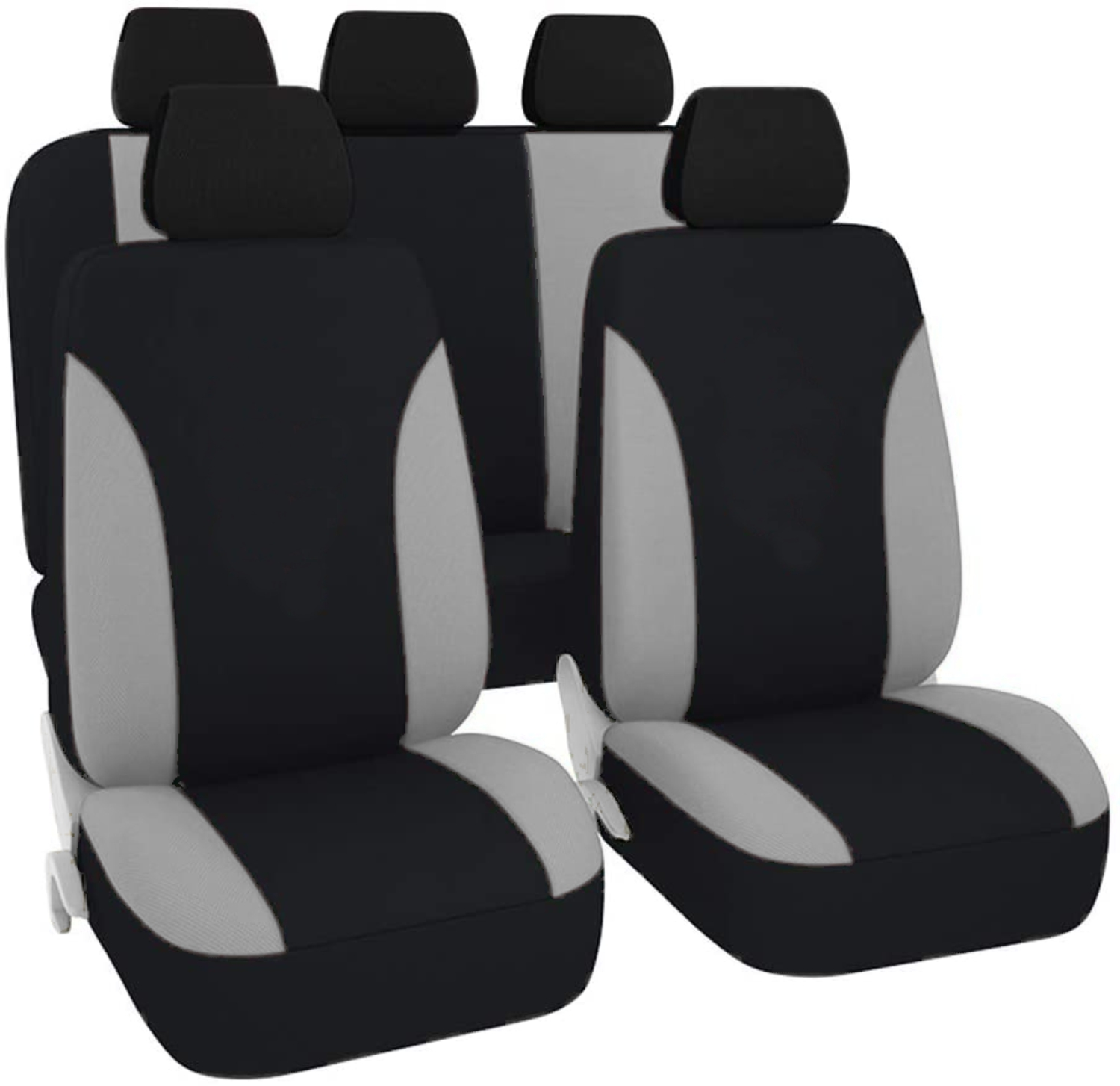 SB101 - Car Seat Cover set protector with SIDE AIRBAG BLACK / GREY