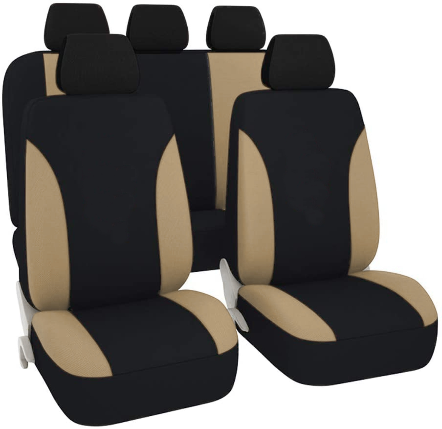 SB102 - Car Seat Cover set protector with SIDE AIRBAG BLACK / BEIGE