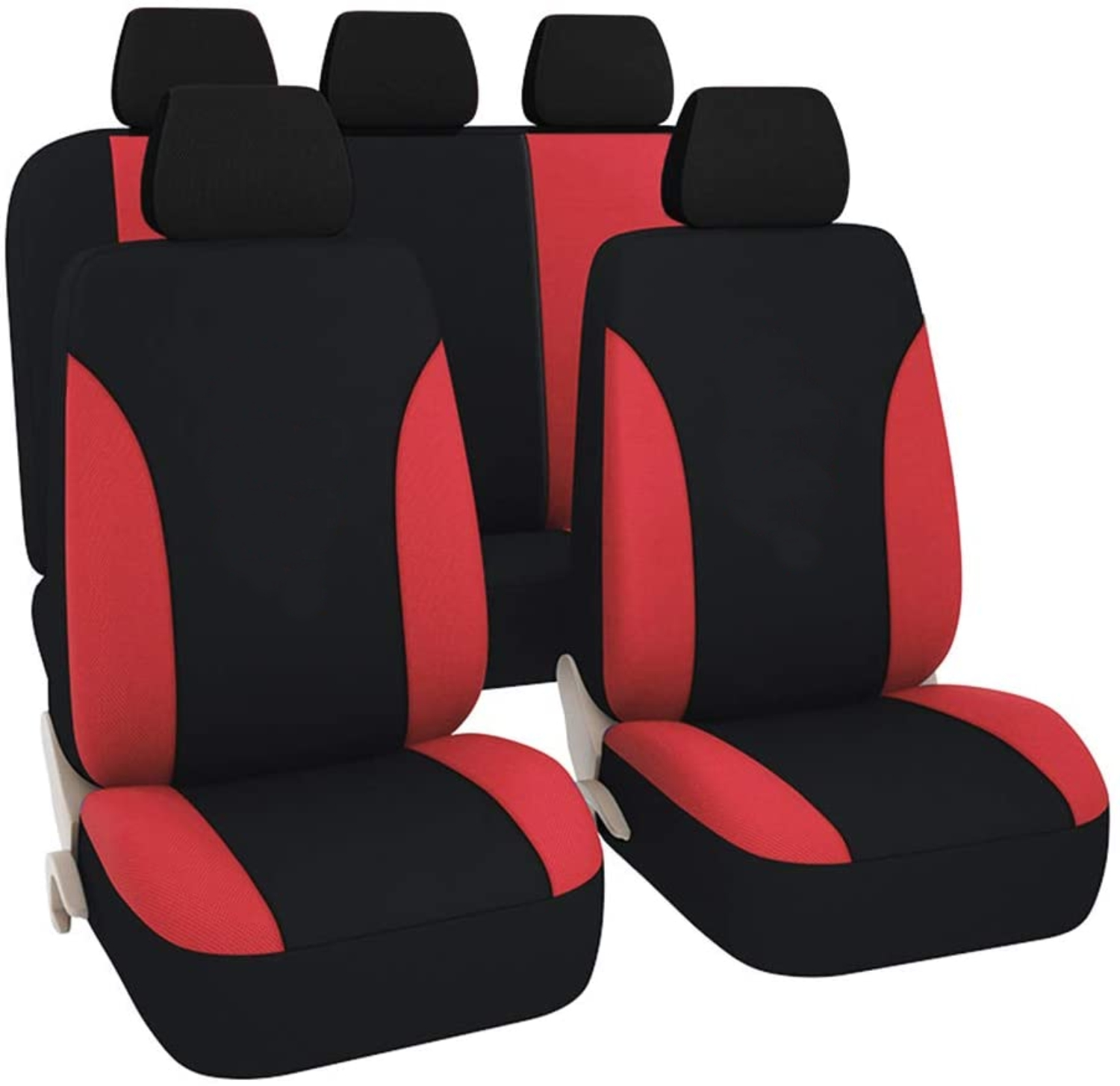 SB103 - Car Seat Cover set protector with SIDE AIRBAG BLACK / ROT