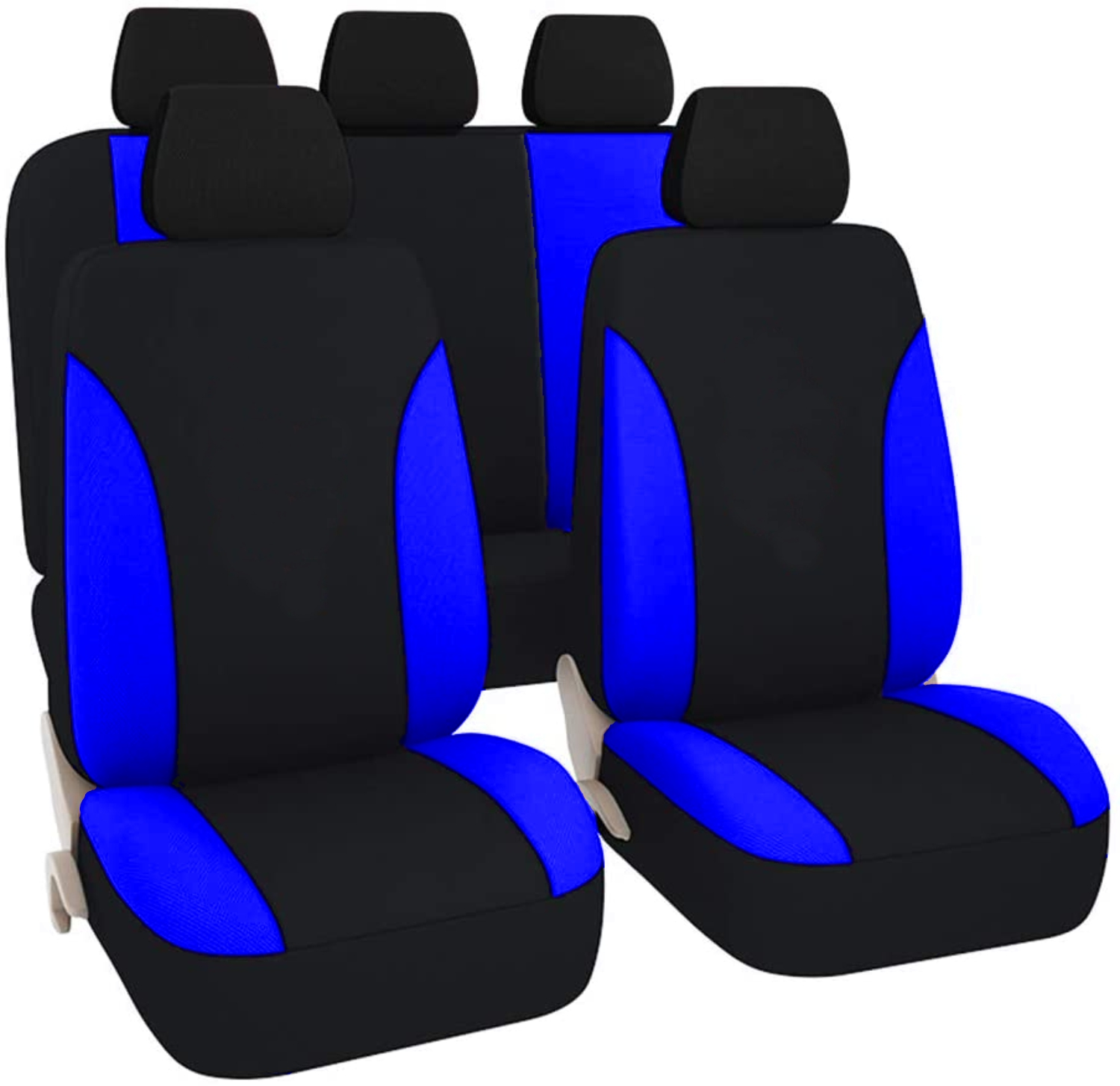 SB104 - Car Seat Cover set protector with SIDE AIRBAG BLACK / BLUE