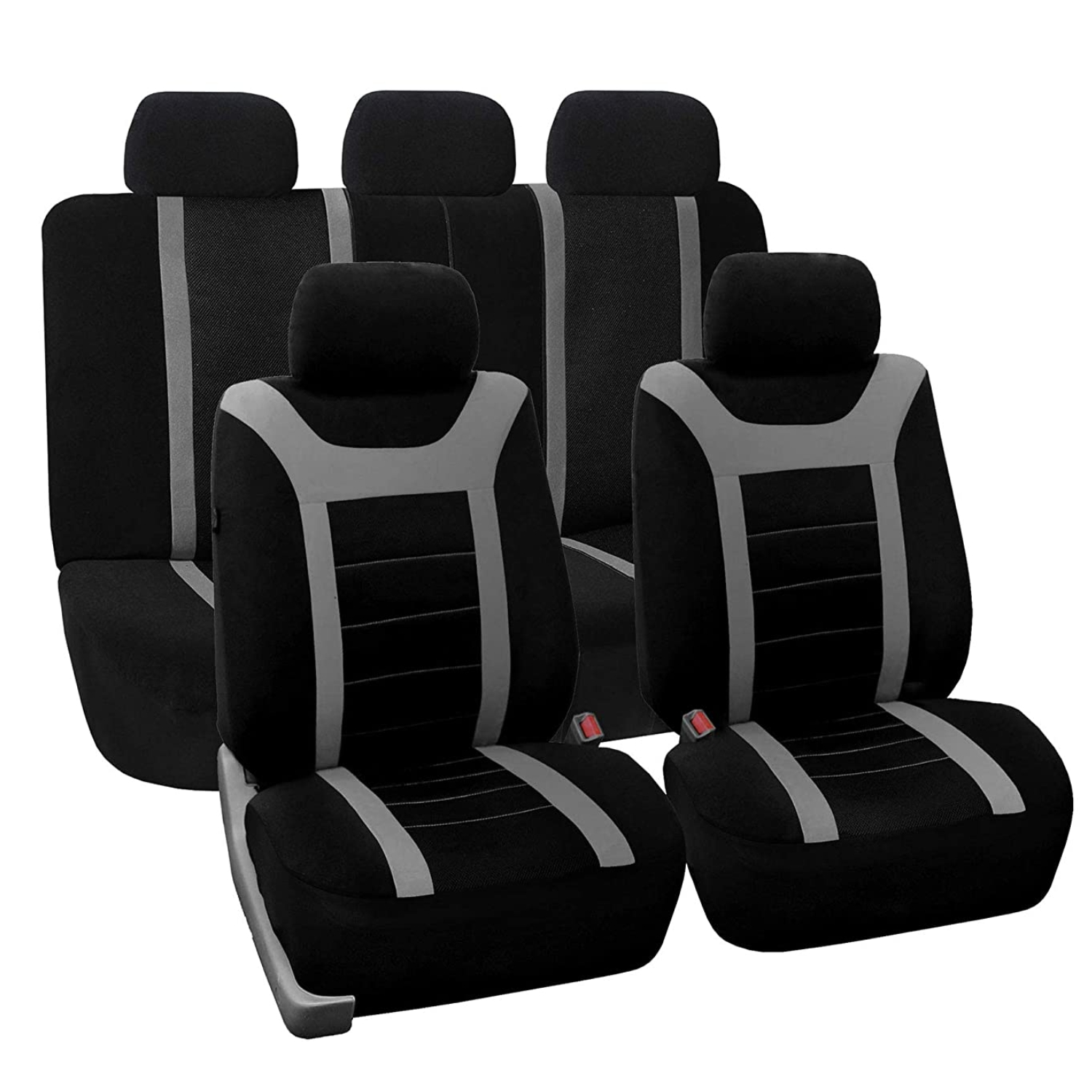 SB201 - Car Seat Cover set protector with SIDE AIRBAG BLACK / GREY