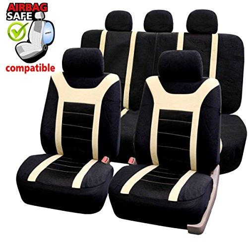SB204 - Sitzbezug Set, für Fahrzeuge mit oder ohne Seitenairbag, Schwarz, Beige