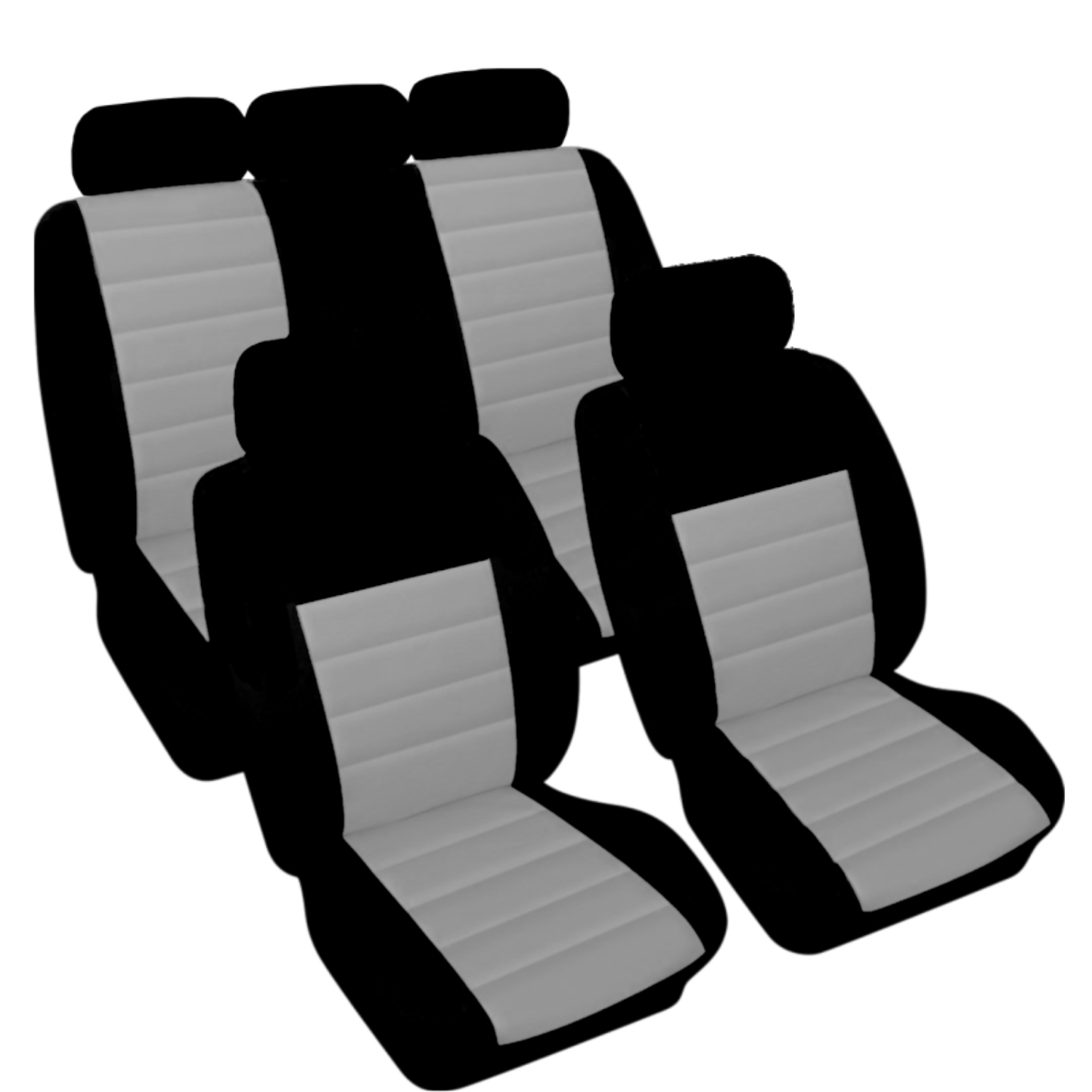 SB401 - Car Seat Cover set protector with SIDE AIRBAG BLACK / GREY