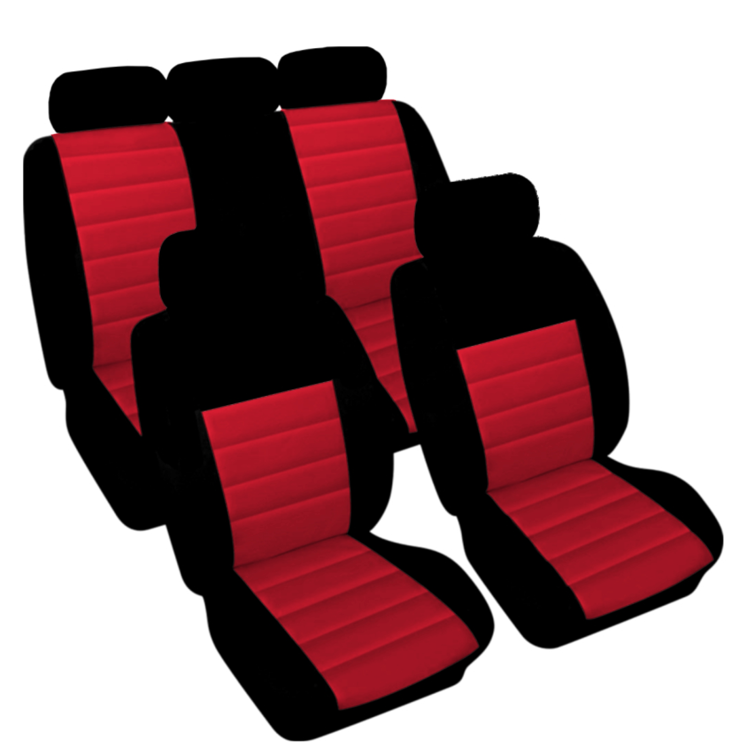 SB402 - Car Seat Cover set protector with SIDE AIRBAG BLACK / RED
