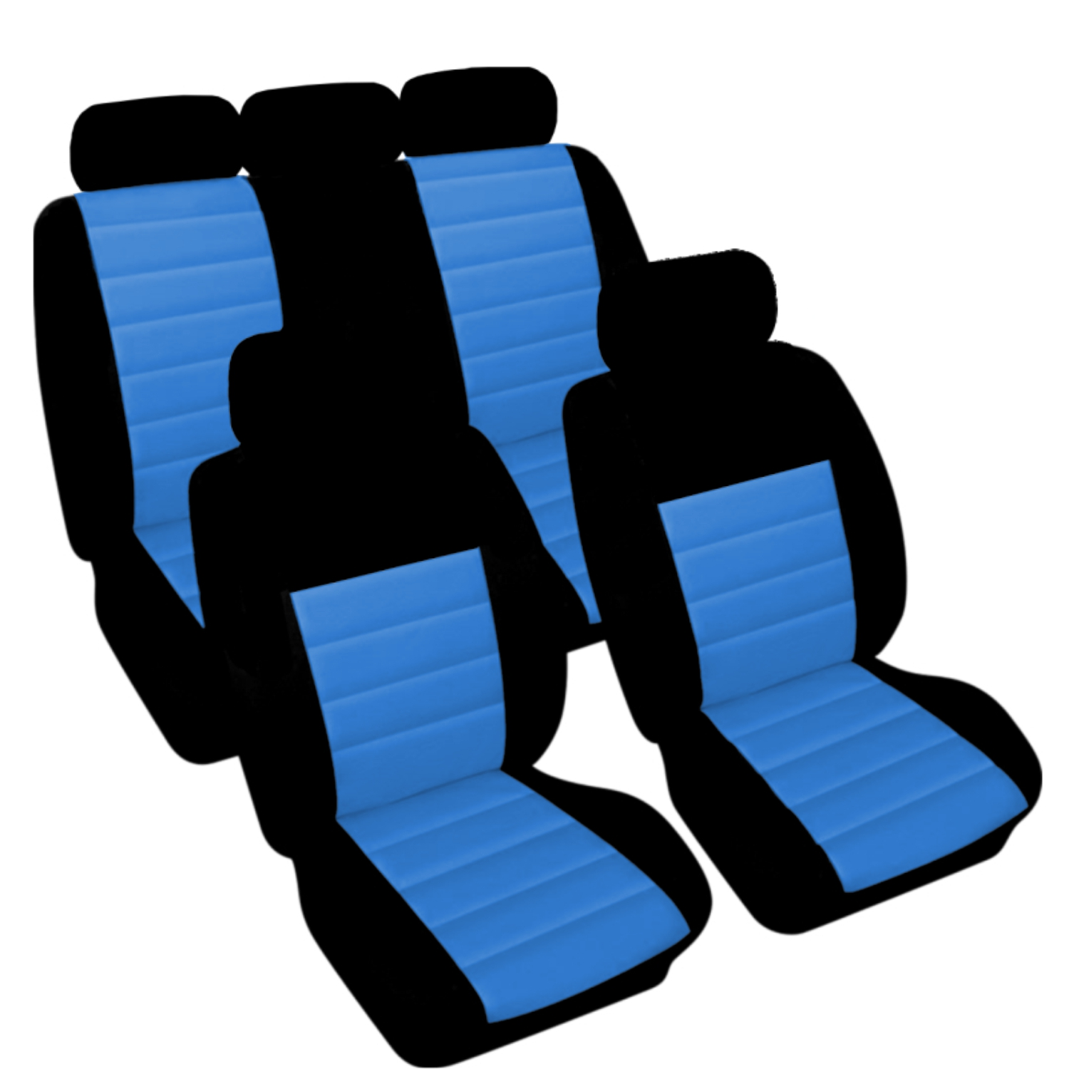 SB403 - Car Seat Cover set protector with SIDE AIRBAG BLACK / BLUE